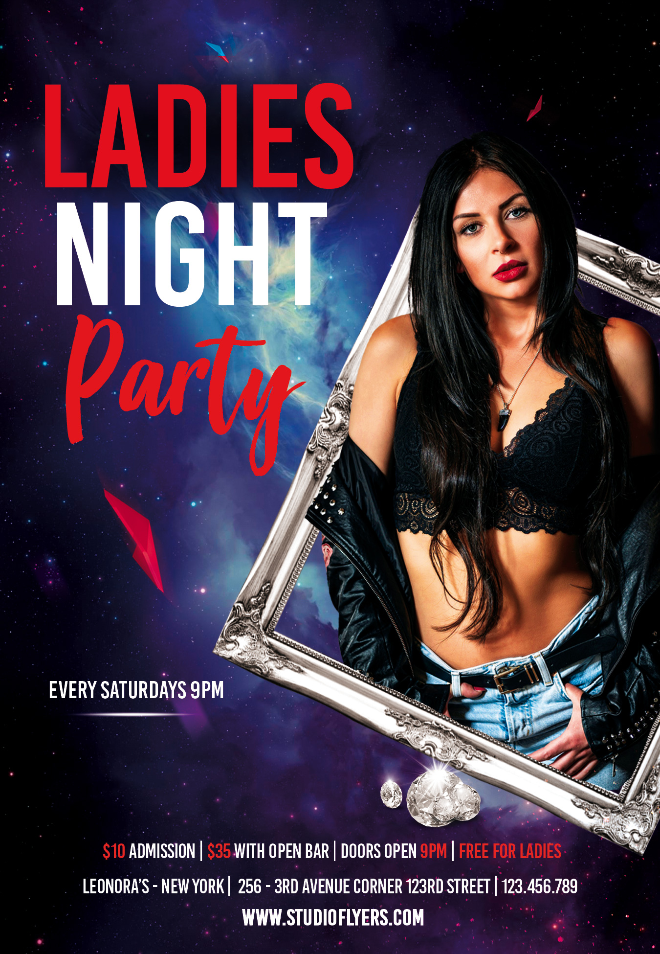 Event Ladies Club Party Free PSD Flyer Template