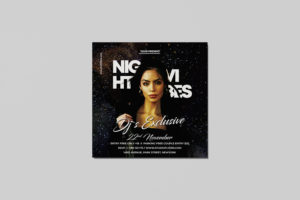Night Club Vibes Free PSD Flyer Template