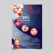 Beauty Salon Makeup Artist Free PSD Flyer Template