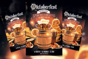 Oktoberfest Night Party Free PSD Flyer Template