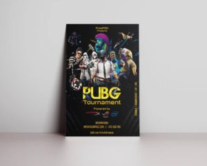 PUBG Gaming Tournament Free PSD Flyer Template