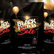 Sale Black Friday Freebie PSD Flyer Template