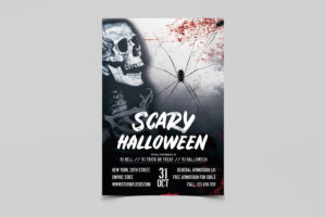 Dead Night Halloween Free PSD Flyer Template