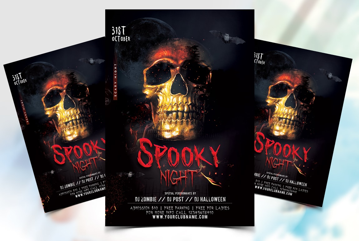 Spooky Halloween Party Free Flyer Template