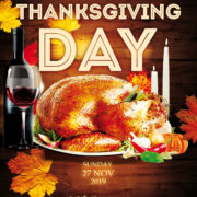 Thanksgiving Day Party Free PSD Flyer Template