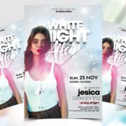 White Affair Party Free PSD Flyer Template