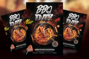 BBQ Night Party Event Free PSD Flyer Template