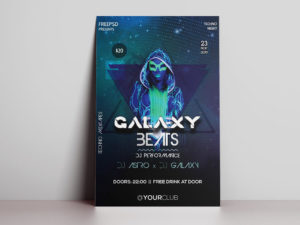 Beats Night Free PSD Flyer Template