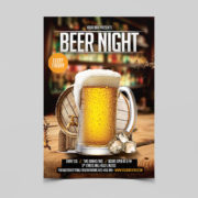 Beer Night Club Free PSD Flyer Template