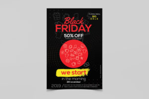 Black Friday Sale Discount Free Flyer PSD Template