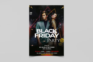 Black Friday Night Party Free PSD Flyer Template