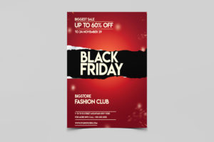 Black Friday Store Sale Free PSD Flyer Template