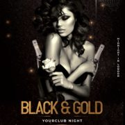Black & Gold Free PSD Flyer Template