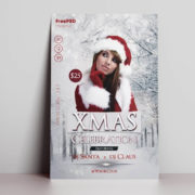 Celebration Christmas Free PSD Flyer Template