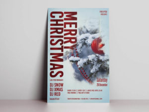 Christmas Day Free PSD Flyer Template