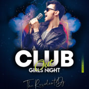Club Party Night Out Free PSD Flyer Template
