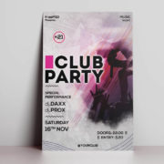 Club Party Freebie Flyer PSD Template