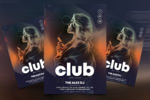 DJ Performance Free Flyer Template