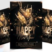 Happy New Year 2020 Free PSD Flyer Templates