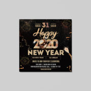 New Year 2020 Square Post Free PSD Flyer Template