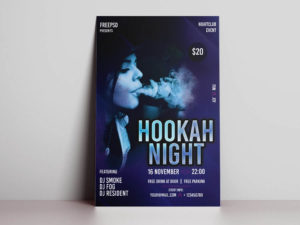Hookah Party Free PSD Flyer Template
