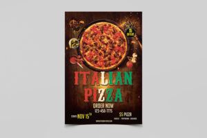 Italian Pizza Food Free PSD Flyer Template