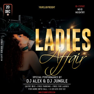 Ladies Affair Party Free PSD Flyer Template