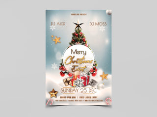 Christmas Event Freebie PSD Flyer Template