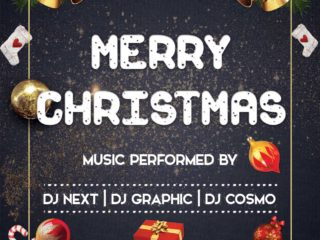 Merry Christmas Night Freebie PSD Flyer Template