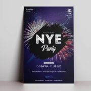 NYE Event Free PSD Flyer Template