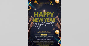 Happy New Year Night Party Free PSD Flyer Template