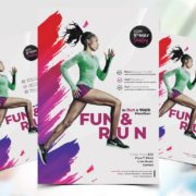 Run Marathon Day Flyer Free PSD Template