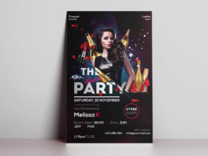 The Ladies Party Freebie PSD Flyer Template