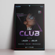 The Night Club Party Free PSD Flyer Template