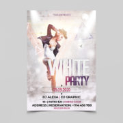 Club White Party Free Flyer PSD Template