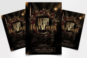 XMas Party Flyer Free PSD Template