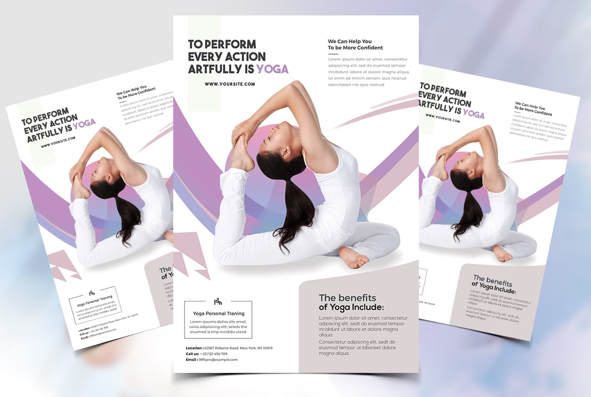 Yoga Gym Class Free Psd Flyer Template Freebiedesign Net