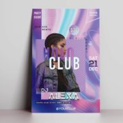 Alexa Club Night Free PSD Flyer Template