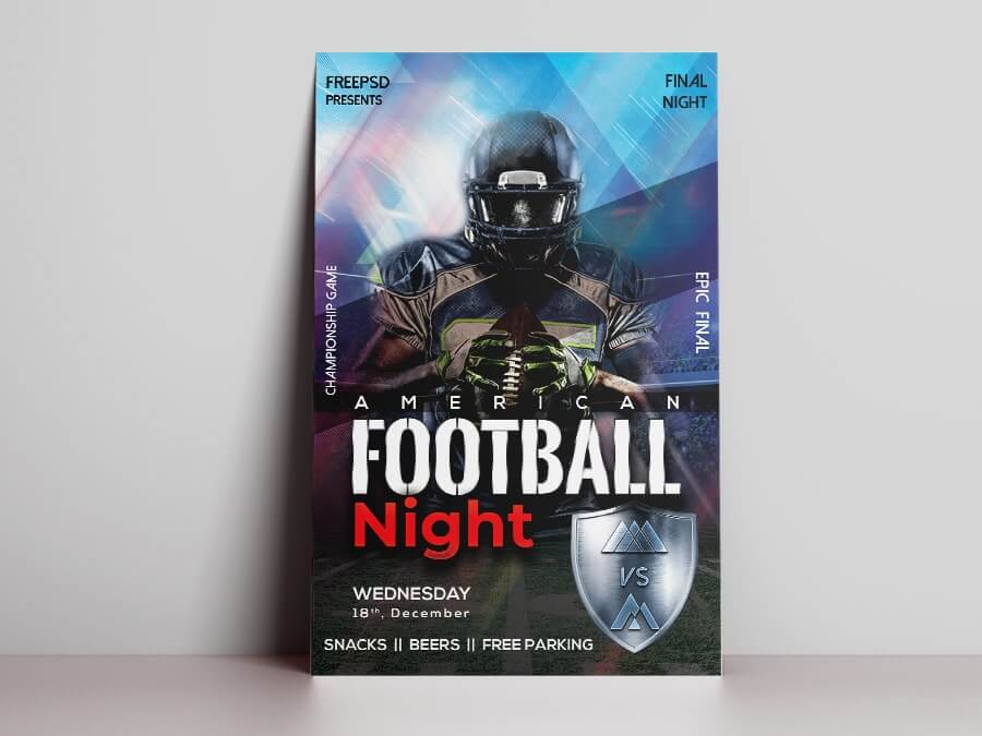 American Game Night Free PSD Flyer Template