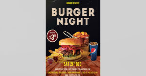 Hamburger Event Free PSD Flyer Template