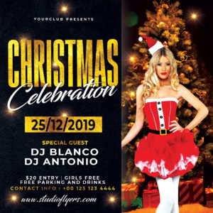 Christmas Celebration Event Free PSD Flyer Template