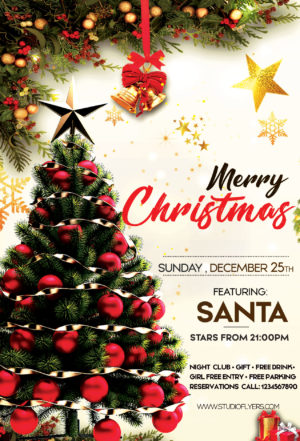 Merry XMAS Day Free PSD Flyer Template