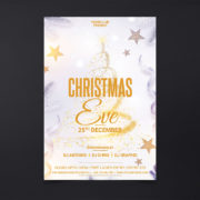 Christmas Eve Party Free PSD Flyer Template