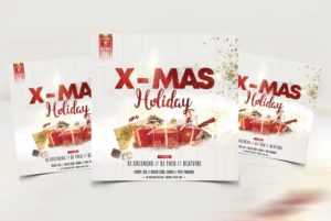 Christmas Events Free PSD Flyer Template