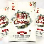 Christmas Party Celebration Flyer Free PSD Template
