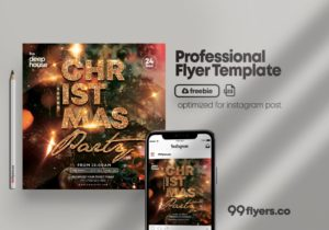 Christmas Sound Free PSD Flyer Template