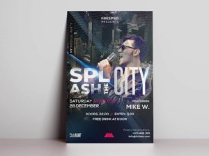 City Night Club Freebie Flyer PSD Template