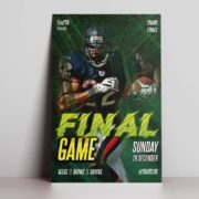Final Match Free PSD Flyer Template