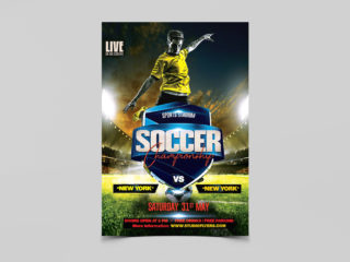 Football Game Free PSD Flyer Template