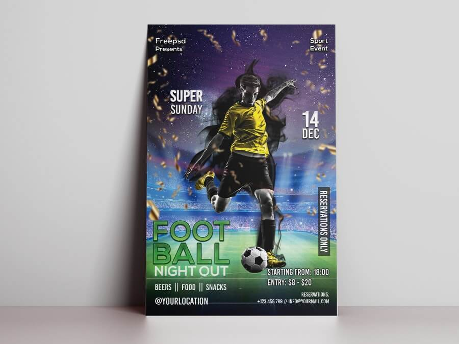 Game Night Free PSD Flyer Template